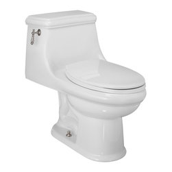 St. Thomas Creations - St. Thomas Creations Celebration 1-Piece Chair-Height Elongated Water Closet - St. Thomas Creations 6131.128.01 Celebration 1-Piece Chair-Height Elongated Water Closet, White