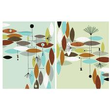 Modern Artwork P20102 Movement by JennSki on Etsy