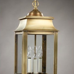 Northeast Lantern - Concord Antique Brass Three-Light Outdoor Pendant with Clear Glass - -Clear Glass  -Northeast Lantern offers a distinctive collection of early American and Colonial reproduction lighting that is hand crafted in New Hampshire for a lifetime of beauty.  -The fixtures are made of solid brass and copper. They  are cut fitted soldered finished and wired by hand in New Hampshire.    -Canopy Dimensions: 5 Diam. Northeast Lantern - 5632-AB-LT3-CLR