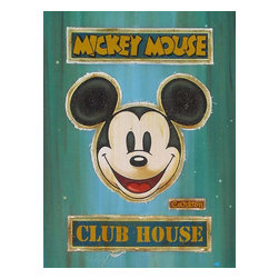 Disney Fine Art - Disney Fine Art Mickey Mouse Club House Lot1 by Trevor Carlton - Gallery Wrapped - Mickey Mouse Lot1 by Disney Fine Art  -  Limited To 23 Pieces World Wide  -  Size: 32 x 24 Inches  -  Medium: Giclee on Hand-Painted Mixed Media Canvas  -  Hand Signed By The Artist: Trevor Carlton  -  Produced by Collector's Editions  -  Fully Authorized Disney Fine Art Dealer  -  Gallery Wrapped  -  Ready To Be Hung  -  Can Be Framed Later If Desired  -  Featuring Mickey Mouse