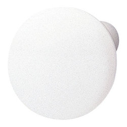 Hafele - White Cabinet Knobs - Hafele item number 138.93.706 is a beautifully finished White Cabinet Knobs. Product Diminsion(s): Hole Spacing: 192.024 mm. / 7 9/16 in.Diameter: 30.988 mm. / 1 7/32 in.Projection: 9.906 mm. /  3/8 in.