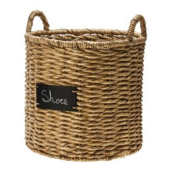 Smith & Hawken Round Basket with Chalkboard - I love this basket from Target — I just love their whole Smith & Hawken line. It would be perfect for holding towels in a guest room or for collecting all the shoes that everyone just throws around by the front door. I have one like this and it really is great for corralling all the loose shoes.