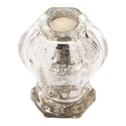 "Liberty Hardware - 1 3/16"" Victorian Knob in Satin Nickel and Mercury Glass -"