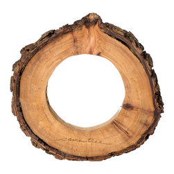 Same Tree - The Circle Light - - MODERN. An ecofriendly  table lamp composed of reclaimed wood; a log slice carefully carved and preserved into modern indirect lighting. Cozy without being complicated.