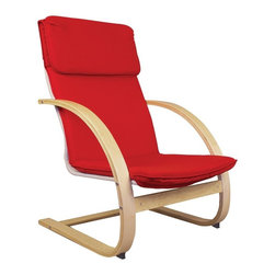 Guidecraft - Guidecraft Teachers Rocker Multicolor - G6468 - Shop for Childrens Rocking Chairs from Hayneedle.com! Be comfortable when reading to your kids with the stylish Guidecraft Teachers Rocker. This rocker matches the Guidecraft Kiddie and Nordic rockers and is a nice blend of style and functionality for the classroom. It is made of natural bent birch wood with a modern design and vibrant red cushioned seat and back. Constructed to last the Teachers Rocker is ideal for classrooms group activities reading time or libraries. Seat height is 16 inches maximum weight limit 250 pounds. Some assembly is required. Comfort and style!About GuidecraftGuidecraft was founded in 1964 in a small woodshop producing 10 items. Today Guidecraft's line includes over 160 educational toys and furnishings. The company's size has changed but their mission remains the same; stay true to the tradition of smart beautifully crafted wood products which allow children's minds and imaginations room to truly wonder and grow.Guidecraft plans to continue far into the future with what they do best while always giving their loyal customers what they have come to expect: expert quality excellent service and an ever-growing collection of creativity-inspiring products for children.