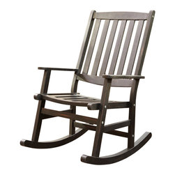Home Styles - Home Styles Bali Hai Outdoor Rocking Chair in Black Finish - Home Styles - Rocking Chairs - 5660584 - Create an island oasis on your porch or patio with a Home Styles Bali Hai Outdoor Rocking Chair.