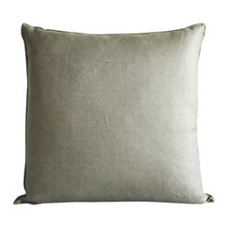 "Ayers Home Collection - Ayers Edge Driftwood Mineral, Mineral, 22"" X 22"" - Add a touch of casual luxury to your home with the Ayers Edge Linen Throw Pillow. Offered in White & Driftwood, our linen pillows have a distinct vintage feel and wear well over time. Slubs and picks in the material add to the casual beauty of the look."