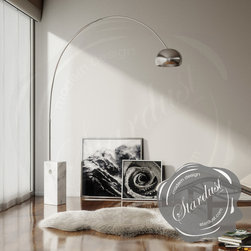 ARCO lamp by Flos | FLOS lamp | Flos Lighting | Flos Lamps - Arco floor lamp by Flos from Castiglioni. The Arco lamp is a modern icon and one of the most beautiful floor lamps ever created. http://www.stardust.com/SEARCH.html?q=FLOS+ARCO