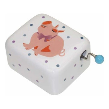 WL - Purple and Blue Dots Pattern Musical Hand Crank with Pink Pig Design - This gorgeous Purple and Blue Dots Pattern Musical Hand Crank with Pink Pig Design has the finest details and highest quality you will find anywhere! Purple and Blue Dots Pattern Musical Hand Crank with Pink Pig Design is truly remarkable.