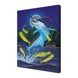 Ready2HangArt - Ready2hangart David Dunleavy 'Blue Moon' Canvas Wall Art, 16 Inch X 20 Inch - This beautiful canvas wall art is from renowned artist David Dunleavy.  His passion for marine life translates to detailed underwater paintings.  It is fully finished, arriving ready to hang on the wall of your choice.