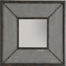 Woven Metal Mirror - This industrial style frame is perfect for a mirror. Made of pierced and distressed metal, it's a perfect way to add an edge to any room.