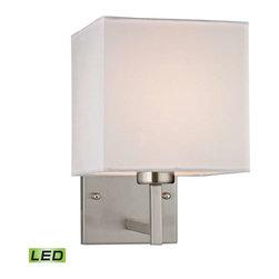 Elk Lighting - Elk Lighting 17160/1-LED Davis Modern Wall Sconce in Brushed Nickel - Elk Lighting 17160/1-LED Davis Modern Wall Sconce in Brushed Nickel