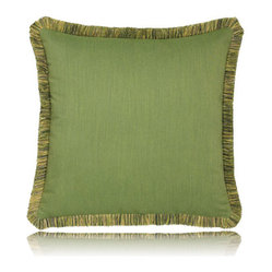 green radiance w/ fringe pillow (20x20)
