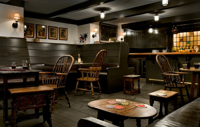 Traditional Home Bar by Crisp Architects