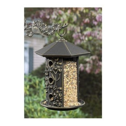 Dogwood Birdfeeder - Turn your garden or backyard into your personal bird sanctuary, with the Dogwood Birdfeeder. Its perches provide a perfect place for the birds to sit, while they feed. This made-in-the-USA feeder can be filled with sunflower seeds, safflower seeds, cracked corn, or blended seeds. Beautiful floral patterns around the feeder give it a great visual appeal. Its 100-percent rust-free recycled aluminum construction, with a weather-resistant finish, makes it durable.About WhitehallRenowned as the world's largest manufacturer of weathervanes, Whitehall Products is also recognized for its extensive line of personalized home address plaques, mailboxes, and garden accents such as hose holders, birdbaths, birdfeeders, and sundials. Whitehall's home accent collection includes unique indoor/outdoor clocks, thermometers, and personalized doormats. Behind the legend of Whitehall artistry lies the tale of a unique craft inspired by the majestic shores and woodlands of western Michigan. It was one master wood-carver's desire to reproduce and preserve his hand-carved wood sculpture in metal, depicting the grace and essence of America's natural beauty. Over 65 years later, Whitehall Products still offers you the same mastery in detail with each originally designed, carved, and hand-cast product.