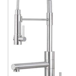Artisan Faucets - Beautiful Artisan brand kitchen faucet with contemporary styling. Dual function spout and spray.