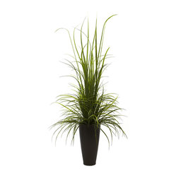 "Nearly Natural 64"" River Grass with Planter (Indoor/Outdoor)"
