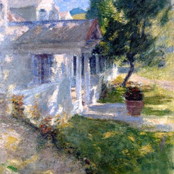 """John Twachtman My House - 16"""" x 20"""" Premium Archival Print - 16"""" x 20"""" John Twachtman My House premium archival print reproduced to meet museum quality standards. Our museum quality archival prints are produced using high-precision print technology for a more accurate reproduction printed on high quality, heavyweight matte presentation paper with fade-resistant, archival inks. Our progressive business model allows us to offer works of art to you at the best wholesale pricing, significantly less than art gallery prices, affordable to all. This line of artwork is produced with extra white border space (if you choose to have it framed, for your framer to work with to frame properly or utilize a larger mat and/or frame).  We present a comprehensive collection of exceptional art reproductions byJohn Twachtman."""