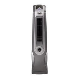 Lasko - HVB High Velocity Oscillating Blower Fan, 3 Speed, Remote - The Lasko 4930 Space-Saving High Velocity Blower Fan has a small footprint with the power of a 20-Inch floor fan. The slim design will allow you the space you need without compromising your work area. Optional oscillation for wide range coverage and directional louvers provide air flow where it is needed. It features a Multi-Function remote control with On-Board storage and an electronic Auto-Off timer. Portable and powerful, this fan will go with you anywhere and is ideal for garages, home gyms, basements, laundry rooms and kitchens. Powerful, High-Velocity floor fan in a streamlined body.