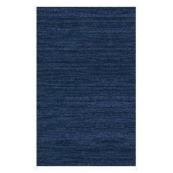 Surya - Haize Rectangular Rug in Deep Navy (2' x 3') - This fascinating rug is very beautiful and gorgeous as blue sapphire. It will bring elegance and charm into your house, besides the rug is hand-weaved of very high quality viscose.    Features: