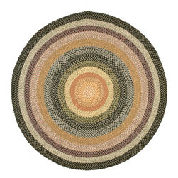 Safavieh - Braided Braided Round 8' Round Blue - Multi Color Area Rug - The Braided area rug Collection offers an affordable assortment of Braided stylings. Braided features a blend of natural Blue - Multi Color color. Handmade of Polypropylene the Braided Collection is an intriguing compliment to any decor.