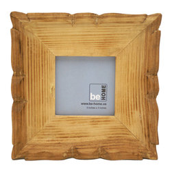 Be Home - Carved Frame Square, 3.5 X 3.5 - It's time to go with the grain and picture yourself — and your loved ones — in handmade style. This frame is made from environmentally responsible wood and features a photo window approximately 3 inches square with a charming carved detail.