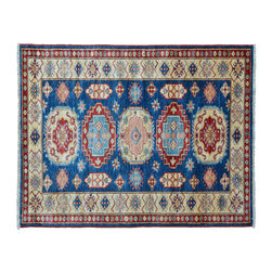 Fine Kazak Area Rug, 100% Wool 3' X 5' Hand Knotted Tribal Design Rug SH11145 - This collections consists of well known classical southwestern designs like Kazaks, Serapis, Herizs, Mamluks, Kilims, and Bokaras. These tribal motifs are very popular down in the South and especially out west.