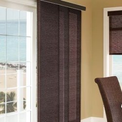 Comfortex - Comfortex Envision Panel Track Blinds: Polynesian Sands and South Pacific Stripe - Comfortex Panel Tracks offer a modern alternative to standard window treatments that's perfect for patio doors, wide windows or as a room divider.  This collection is made of light filtering fabrics.