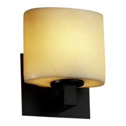 Justice Design Group - Justice Design Group CNDL-8931 Modular Single Light ADA Wall Sconce from the Can - Justice Design Group CNDL-8931 Modular Single Light ADA Wall Sconce from the CandleAria CollectionThe rich golden glow of candles is captured in the contemporary CandleAria� Collection. These fixtures come with candle-like shades that add considerable light, warmth and charm to any room.From an elegant lamp atop a contemporary end table to a dramatic sconce illuminating a formal entryway, Justice Design offers a wide array of lighting solutions for residential and commercial settings. Create a mood, complement a theme, or simply add the perfect accent with a Justice Design decorative lighting fixture.