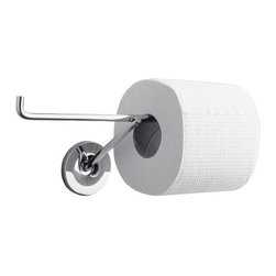 Hansgrohe - Hansgrohe-40836000 Axor Starck Double Toilet Paper Roll Holder in Chrome - Hansgrohe-40836000 Axor Starck Double Toilet Paper Roll Holder in ChromeTo make the daily rituals in the bathroom even more comfortable for you, Hansgrohe offers accessories that match the faucet and shower lines within the World of Styles. These compelling counterparts offer beautiful designs as well as create convenience. As with all Axor Starck designs, less means more, yet the world-renowned designer, Philippe Starck, knows how to capture attention with a minimalist allure. This philosophy was never more evident than with the Axor Starck designs, which feature a sleeker, thinner body and an unassuming stick handle. Available in brushed nickel and chrome, these products and the collection as a whole feature a large variety, including tall, two-handle and widespread faucets as well as shower products and accessories.Hansgrohe-40836000 Axor Starck Double Toilet Paper Roll Holder in Chrome, Features:• Solid brass holderHansgrohe-40836000 Specification Sheet Hansgrohe Installation Instructions Hansgrohe Limited WarrantyManufacturer: HansgroheModel Number: 40836000Manufacturer Part Number: Hansgrohe 40836000Collection: Axor StarckFinish Code: Finish: ChromeUPC: 011097177977This product is also listed under the following Manufacturer Numbers and Finish Codes:Hansgrohe 40836000        HG40836000        40836000Product Category: Bathroom AccessoriesProduct Type: Toilet Paper Holder