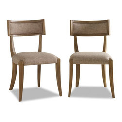 Brownstone Furniture Atherton Teak Dining Chair - The Atherton teak dining collection is a perfect blend of streamlined design made with rich, exquisite wood. The collection's dining table is constructed of teak, subtly cerused to bring out the depth and character of the wood.