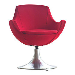Dupont Swivel Chair by Nuans Design - All gorgeous style and a slightly royal outlook, this rounded swivel chair will catch the eye no matter where it resides. The Dupont Swivel Chair also shows off a 180º swivel, an aluminum disc base.