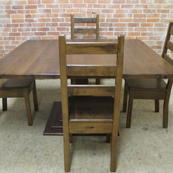 Reclaimed Wood Square Dining Tables -