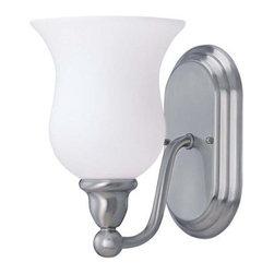 "Nuvo Lighting - Nuvo Lighting 60/2567 Single Light 6"" Wide Bathroom Fixture Glenwood Co - *Single light reversible lighting bathroom fixture featuring satin white glass"