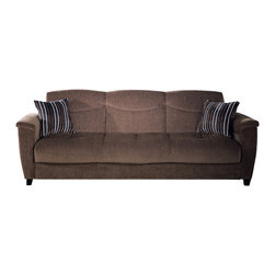 Istikbal - Aspen Sofa Sleeper in Yuky Brown - Beautiful appearance, a new unusual shade of brown, comfortable and ergonomic design, all this you will find in the collection Aspen Yuky Brown. A remarkable sofa for two persons. Its ergonomic design ensures full comfort. With its superb color this loveseat is ideal for any interior.