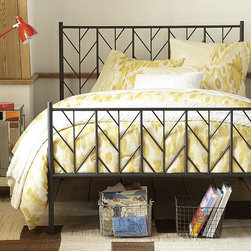 Herringbone Bed Set - I like the design on the bed frame. It's simple but so pretty.
