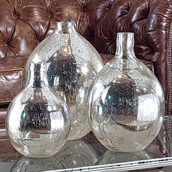 Regina Andrew Set Of 3 Antique Mirror Glass Wine Spheres - These mercury glass demijohns are at the very tip top of my wish list at the moment. The trio would provide a healthy dose of shine to any room.