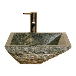 The Allstone Group - V-VGRTTP-BE Green Amber Polished Vessel Sink - Natural stone strikes a balance between beauty and function. Each design is hand-hewn from 100% natural stone.  Vessel sinks can be the most inspiring feature in a bathroom, adding style and beauty to any bath space.  Stone not only is pleasing to the eye but also has the feel of something natural and solid.