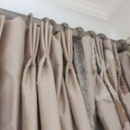 Parkdale Residence - Embroidered Silk and Velvet Drapery