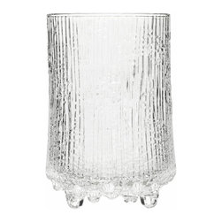Iittala - Ultima Thule Highball, Set of 2, 14.75 Oz. Clear - No one wants to drink alone, so why not buy your barware in twos? These eclectic highball glasses are perfect for cocktail hour with a friend or neighbor. The chiseled ice design keeps things fresh while the tall glass allows room for extra ice and more than 14 ounces ounces of your favorite libation.
