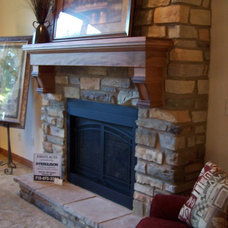 Traditional Indoor Fireplaces by Custom WoodGrains