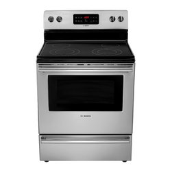 "Bosch 300 Series 30"" Electric Freestanding Range, Stainless Steel 