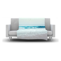 """Kess InHouse - Nastasia Cook """"Crystal Clear"""" Ocean Wave Fleece Blanket (50"""" x 60"""") - Now you can be warm AND cool, which isn't possible with a snuggie. This completely custom and one-of-a-kind Kess InHouse Fleece Throw Blanket is the perfect accent to your couch! This fleece will add so much flare draped on your sofa or draped on you. Also this fleece actually loves being washed, as it's machine washable with no image fading."""