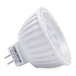 TorchStar - AC/DC 12V 5W MR16 LED Bulb Spotlight 36 Degree Beam Angle GU5.3 Base, Daylight - Overview