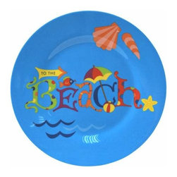 "WL - 7 Inch Blue ""To the Beach"" Tropical Motif Dining Ware Lunch Plate - This gorgeous 7 Inch Blue ""To the Beach"" Tropical Motif Dining Ware Lunch Plate has the finest details and highest quality you will find anywhere! 7 Inch Blue ""To the Beach"" Tropical Motif Dining Ware Lunch Plate is truly remarkable."