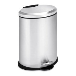 Honey Can Do - 12L Oval Stainless Steel Step Can - 12L capacity. Includes removable inner bucket. Carrying handle. Easily wiped clean