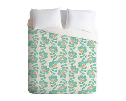 DENY Designs - Wendy Kendall Lovisa Aqua Duvet Cover - Turn your basic, boring down comforter into the super stylish focal point of your bedroom. Our Luxe Duvet is made from a heavy-weight luxurious woven polyester with a 50% cotton/50% polyester cream bottom. It also includes a hidden zipper with interior corner ties to secure your comforter. it's comfy, fade-resistant, and custom printed for each and every customer.