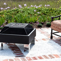 Fire Sense HotSpot Square Fire Pit - Bring the warmth and convenience of a dancing fire to your backyard with the Fire Sense HotSpot Square Fire Pit. -Mantels Direct