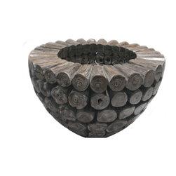 Bradburyhd - Tiki Planter - Made with Tiki wood.