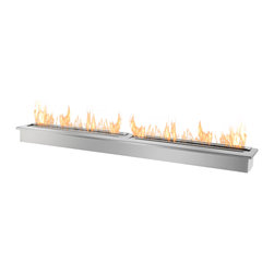 IGNIS - Ignis Bio Ethanol fireplace Burner Insert EB6200 - Heating your home is simple, easy, and clean when you use this EB6200 Ethanol Fireplace Burner Insert in your own fireplace design or your existing fireplace. This versatile double-layered fireplace burner is sleek and modern - and ready to replace your existing wood-burning insert to give your family warm, comforting heat while also efficiently heating your space in an eco-friendly fashion. It holds an amazing 18 liters of fuel, and it can operate for a burn time of around 12 hours between fills, so you can leave it on all night and everyone will be warm and cozy. This unit has an approximate output of 27,000 BTUs.